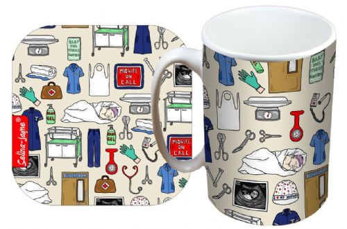 Selina-Jayne Midwife Limited Edition Designer Mug and Coaster Set